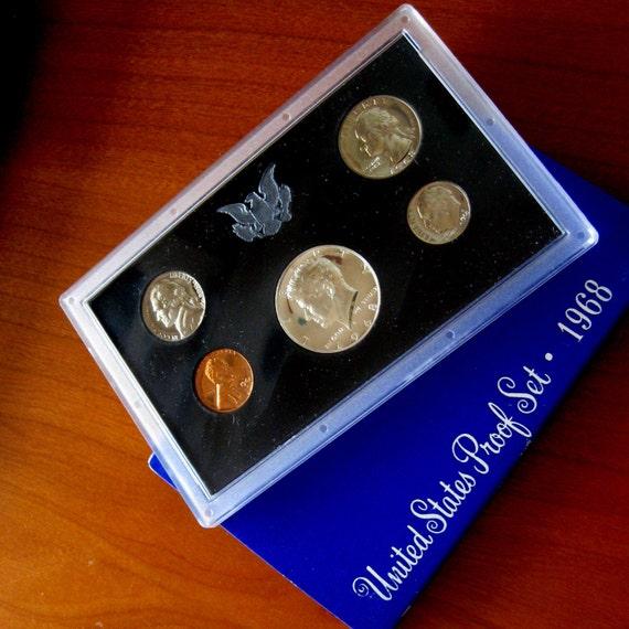 Vintage Coin Proof Set 1968 United States