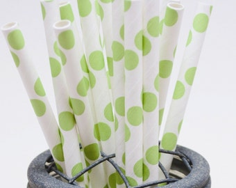 25 Lime Green Paper Straws - Perfect for Parties - Favors--Free Editable DIY Tags PDF