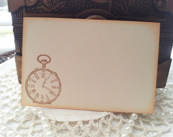 Pocket Watch Place Cards Food Buffet Label Tags Set of 10