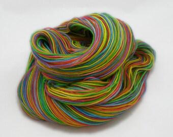 Candy Rainbow - Superwash Merino Nylon Hand Dyed Sock Yarn (100 g/400 yds)