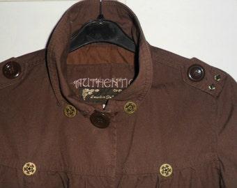 Steampunk Brown Cropped Jacket