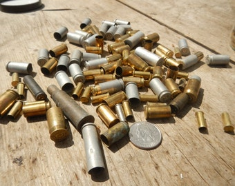 Steampunk Spent Bullet Casings or Brass- REAL- Accents- 15 Pieces Assorted Stock No. 1-93