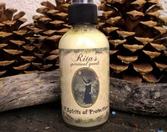 Rita's 9 Spirits Protection Spiritual Mist Spray - Hoodoo, Pagan, Witchcraft