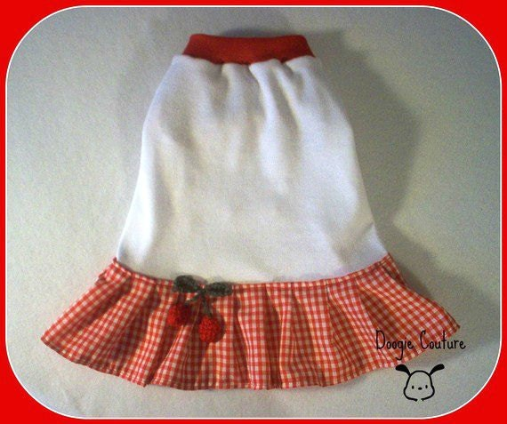 Doogie Couture SWEET CHERRY Dog Dress Size XXXS through Medium