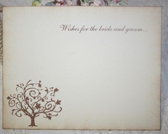 Wedding Wish Cards - Wedding Tree - Wishes for Bride and Groom - Ivory - Set of 25