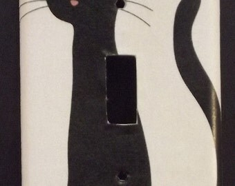 Black Cat Switchplate Cover - Free Shipping - 1027ANML