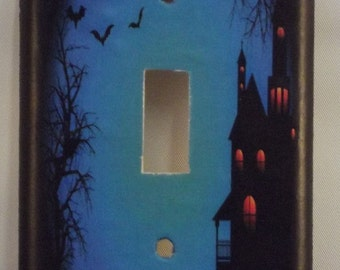 Halloween Night Switchplate Cover - Free Shipping - 1022HOLI