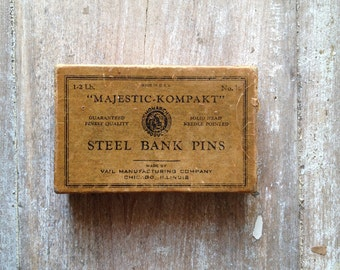 1890s Loaded Box of Steel Bank Pins