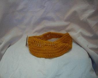 SALE-Crocheted Visor - gold