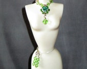 Barbie Silkstone Beaded Collar Necklace and Earrings for 11.5 inch dolls
