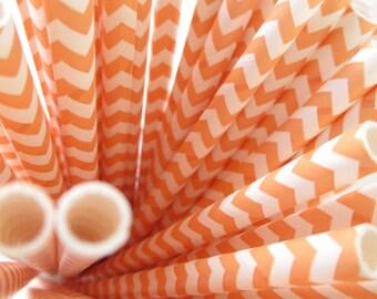 25 Orange Chevron Paper Straws Printable Flag PDF Lips Mustache