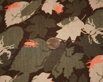 Camo Leaves with Beetles Cotton Knit