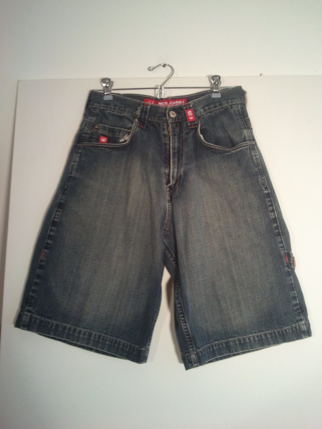 JNCO jeans shorts 90s rave grunge 29 small skull by BrightCloset