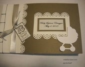 Vintage Baby Shower Guest Book Album (MTO)