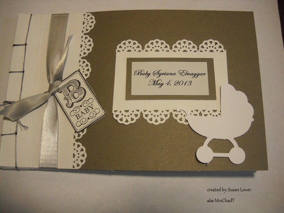 Vintage Baby Shower Guest Book Album Mto
