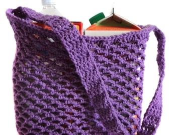 Mesh Market Bag - PDF Crochet Pattern - Instant Download