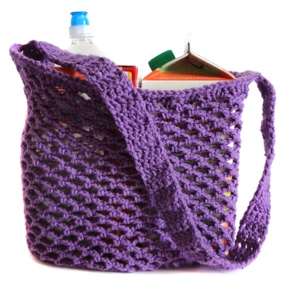 Mesh Market Bag PDF Crochet Pattern by CrochetSpotPatterns