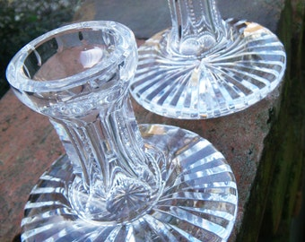 Waterford Cut Irish Crystal Candle Holder