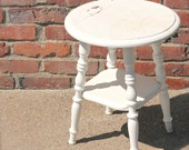 Round Farmhouse stool or side table