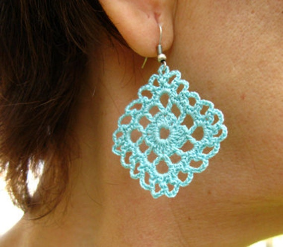 pdf tutorial crochet one pattern and two design dangle crochet earrings diagrams pineapple crochet pattern diagrams