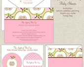 The Apple of Your Eye Baby Shower Invitation (girl)