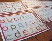 Alphabet Schoolwork Stationery - Set of 6 - Handmade Set of Notecards