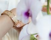 Rose gold cuff, Delicate rose gold jewelry, Rose gold bangle, Dots bracelet, Dainty rose gold cuff, Rose gold cuff, Thin rose gold bracelet