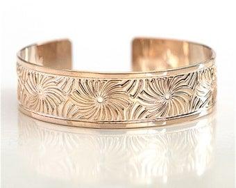 Rose gold, Rose Gold cuff, cuff bracelet, Rose gold bracelet, rose gold bangle, spirals bracelet, rose gold jewelry