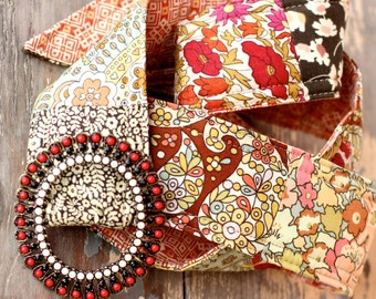 Bloomsbury Liberty of London Patchwork Fabrics Belt, paisley and floral