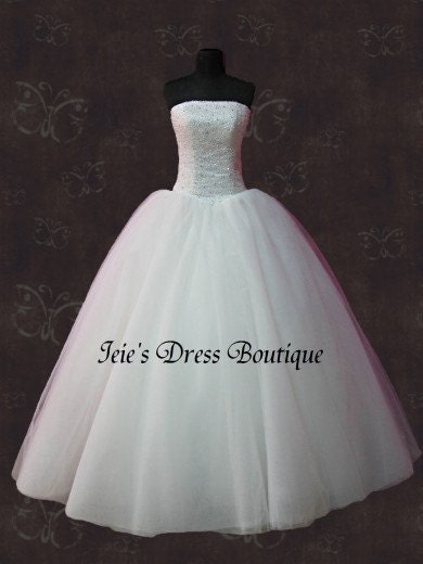 Princess Cinderella Wedding Dresses : Timeless cinderella princess tulle gown wedding dress by ieie