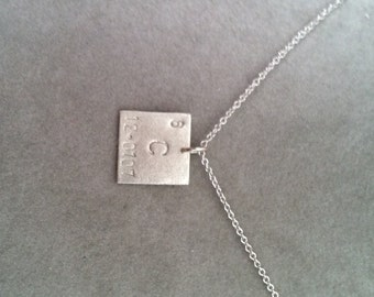 "Periodic Table ""Elemental"" sterling silver pendant 12mm- your choice-FEATURED in Business Insider Gift Guide- geek girl collection chemistry"