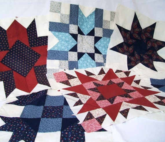 Quilt Patterns Using 12 Inch Squares : Quilt Squares Large 12 Inch Blocks Red White by bigdreamsupply