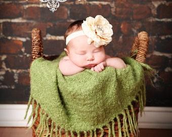 Baby Flower Headband,Baby Headband,Ivory Headband,Flower Headband,Newborn headband,Christening Headband,Cream Headband,Maxine Headband