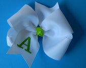 EXTRA LARGE MONOGRAMMED bow