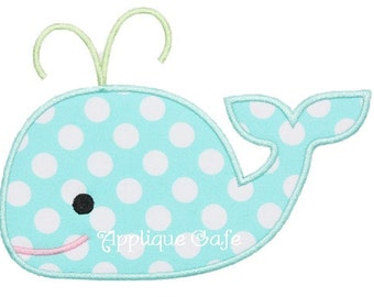 291 Whale 2 Machine Embroidery Applique Design