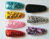 25 pcs -  MIx color Sequin Felt Hair Clip COVER for toddler baby - size 35 mm
