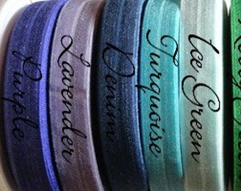 1 Yard of Fold Over Elastic, FOE, DIY Headbands, DIY Hair Ties, Sample Order