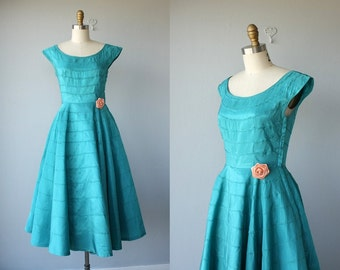 Vintage 1950s Party Dress | 50s Cocktail Dress | 50s Dress | 50s Prom Dress | Vintage 50s Formal Dress - size small