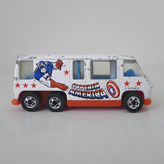 Vintage Hot Wheels Captain America Gmc Motor Home 1970s Toy