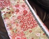 Handmade Baby Girl Quilt Personalized Cherry Blossoms Quilt Modern Patchwork Baby Girl Quilt Modern Designer Fabrics