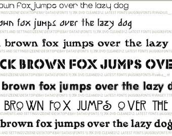 DVD 30,000 Microsoft Windows FONTS COLLECTION Computer .ttf true type fonts