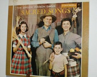 The Chuck Wagon Gang - Sacred Songs - Columbia - Record LP Vintage Vinyl  CS 8847
