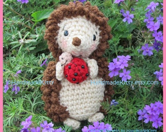 Hedgehog with Little Friend Ladybug  Amigurumi Crochet Pattern by HandmadeKitty