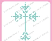 Cross Communions, Baptism trinity, holy cross, christianity, religious symbol, ornate scrapbooking - Commercial Use Clip Art