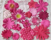 Prima Flowers Pink Assortment No. 208 -  Hydrangea, Got Flowers, Daisy, Iced, Dots and more Paper Flower Embellishment Sampler Pack