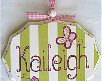 Personalized Baby Name Plaque