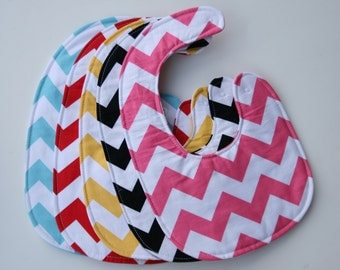 Baby shower gift, Chevron bib, Boutique Style