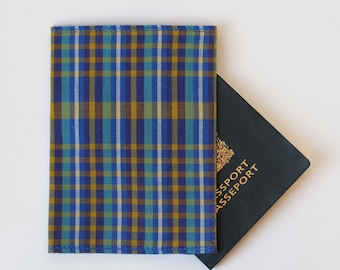 Passport Cover, Rad Plaid, Fabric Passport Case, handmade travel accessories by Knotted Nest