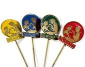 Set of 4 Advertising Stick Pins