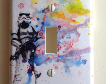 Storm Trooper Star Wars Art Decorative Light Switch Cover Plate